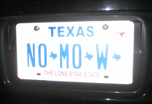 no mo w license plate photo by jessamyn
