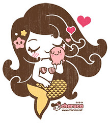 Sirena loves pulpito (charuca) Tags: pink cute japan character style syren kawaii octopus sirena pulpo charuca
