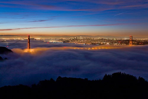 Golden Gate Bridge before sunrise- San Francisco