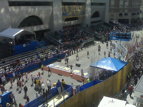 boston marathon finish line. Boston Marathon finish line