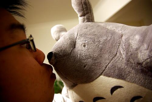 Cedric + blind Totoro