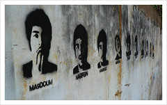 (dead) faces on the wall NOT :-) (aldask) Tags: christmas vacation lebanon graffiti faces middleeast memory tribute martyrs beirut resistance liban levant commemoration beirout