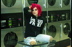Rhyme and Reason (Theresa Best) Tags: pink hair free laundry drug dryer washer