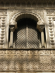 Window in the Dolls' Courtyard, Reales Alcazares, Sevilla, Spain (jferbal) Tags: voyage travel architecture sevilla spain arquitectura palace medieval seville andalucia arab moorish arabe middle andalusien ages middleages viaggio architettura stucco spanien spagna moro reise andalousie arabisch mudejar siviglia mittelalter medioeval spagne estuco andalucien