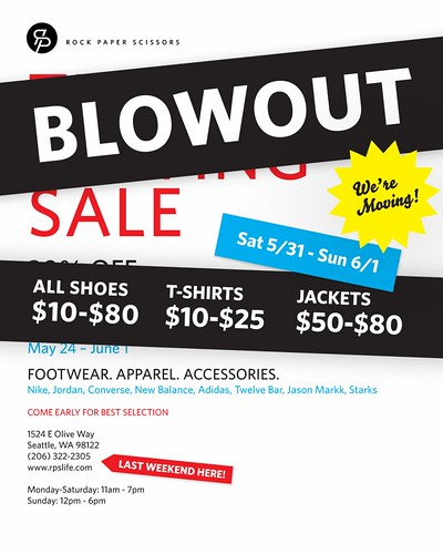 THE BLOWOUT SALE!