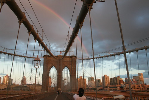 Rainbow over the Brooklyn Bridge by arodriguez_21.
