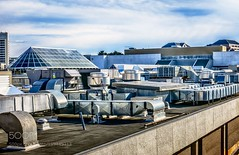 HVAC Jungle (HoustonHVAC170) Tags: hdr skyline mall rooftop sheet metal heating venting cooling
