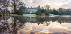 Château de Pordor (Explore 16/02/17) (f.ray35) Tags: castle sunlight water reflection chateau loire atlantique 44 tree nature romuald effray sunrise pond light architecture monument exterieur canon sigma1750 polarisant