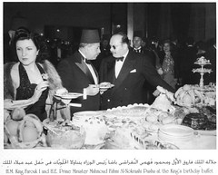 King Farouk and prime minister Mahmoud El-Noukrashi (Kodak Agfa) Tags: people history 1930s egypt 1940s 1950s royalty mideast kingfarouk egyptianroyalfamily mohamedaliroyalfamily