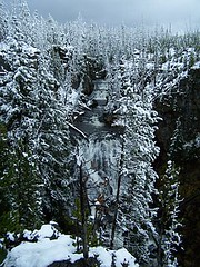 Keppler Falls (cdglove2fish) Tags: snow beauty waterfall yellowstone winterwonderland snowcovered keppler goldstaraward absolutelyexciting