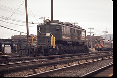 P-Motor at Croton-Harmon (brooklynparrot) Tags: nyc pc pennsylvania trains nh newhaven 1970s railroads prr penncentral newyorkcentral