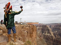 Hualapai Native American at the Grand Canyon Skywalk (ariztravel) Tags: grandcanyonskywalk hualapaitribe grandcanyonwestrim grandcanyonwestedge