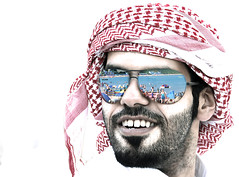.. Arabian .. (Ra3ni) Tags: november hairy guy look sunglasses glasses explore arabian 2007 qatari whitebg marvelousphotoaward baired