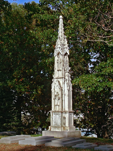 Calvary Roman Catholic Cemetery, in Saint Louis, Missouri, USA - gothic monument.jpg