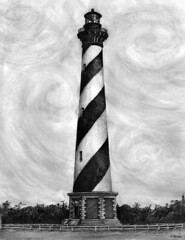 Cape Hatteras Lighthouse (archangel) Tags: ocean lighthouse art beach coast nc lighthouses artist northcarolina hatteras coastal carolina eastern outerbanks obx capehatteras litwin mikelitwin archangel diamondshoals myillusrations