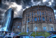 Gasometer (PIXXELGAMES - Robert Krenker) Tags: vienna wien blue building nikon great 1001nights brava soe hdr lightroom gasometer 3xp photomatix adobelightroom d80 nikkor18200 superbmasterpiece diamondclassphotographer afsnikkor18200 ~vivid~ coolestphotographers rubyyyk betterthangood byrobertk top25blue