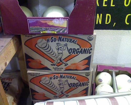 Organic baseball produce