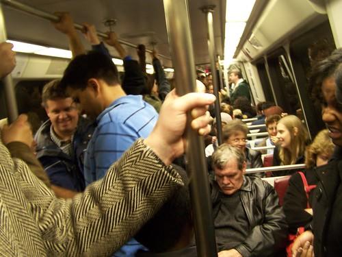 Crush on a weekend 4 car WMATA subway train