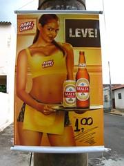 Beer Ad in Marilia, Brazil