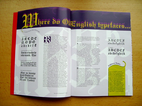 Linotype Matrix 4.3 Old English