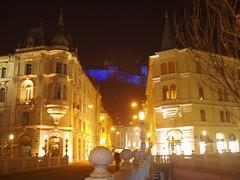 P1260214 (aba-sah) Tags: bridge architecture night slovenia ljubljana ljubljanica preserensquare ljubljanskigrad ljubljanacastle preseren preernovtrg ljubljanicariver