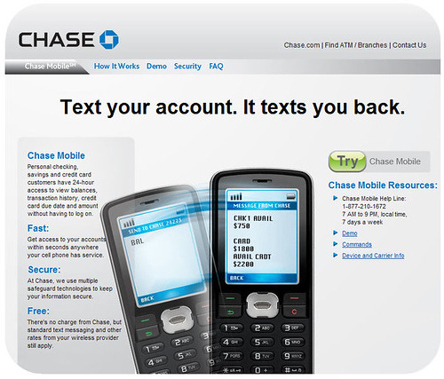 Chase launches text balance queries - Mobile Industry Review