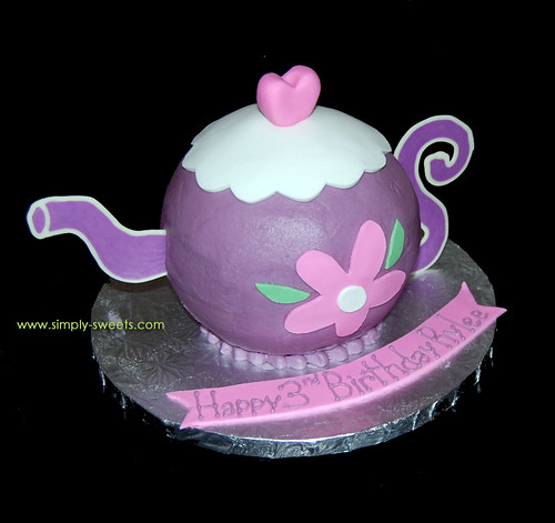 Purple Teapot Cake Rylees Birthday
