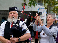 Bagpipe tuner (jthommo101) Tags: canberra bagpipes canberramulticulturalfestival pentaxda1650mm