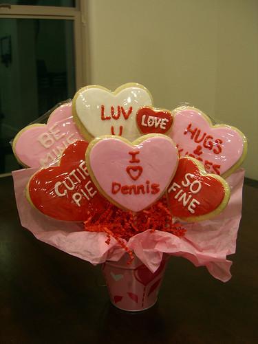 Valentine Cookie Bouquet #6