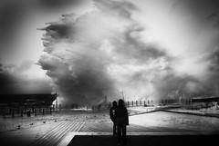olatua (cazenave) Tags: sea white storm black mar lluvia bn tormenta euskalherria euria basquecountry donostia itxasoa ekaitza