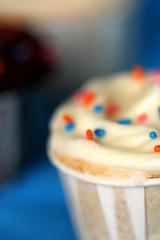 simple vanilla/vanilla cupcake