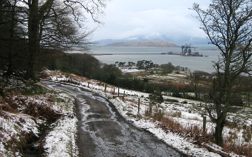 Kelburn track in snow