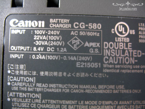 Canon battery charger