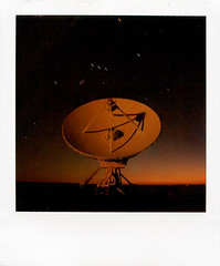 why i drove 400 miles to take a polaroid (davidteter) Tags: newmexico film polaroid astrophotography orion polaroid600 vla radiotelescope verylargearray slr680se roidweek2008