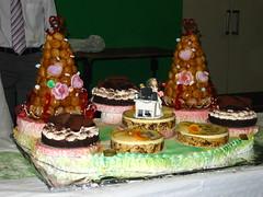 Bonequinhos de bolo de casamento geek