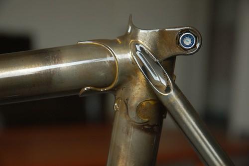 Sanblasted Frame Powder Coated Clear - Bike Forums