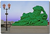 [headless in color] (anbri22) Tags: france colors statue headless drawing montpellier fantasy fantasia esplanade francia statua lampione anbri senzatesta