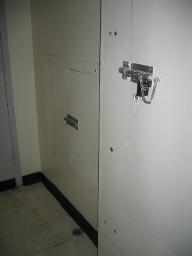 Bolted locked access to utilities