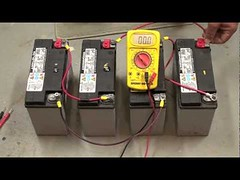 Baterries in Series Connection (eInfoDesk) Tags: how calculate power consumption rate an inverter battery