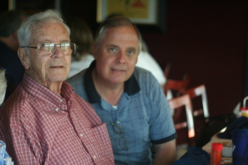 Cliff and his Dad celebrate his 88 th birthday