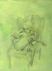 WIP - Absinthe Fairy Pencils 1