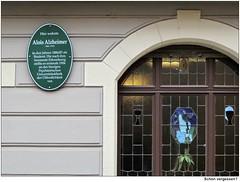 Photo of Alois Alzheimer green plaque