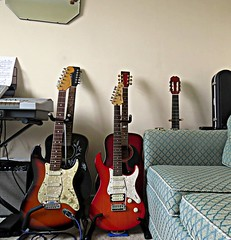 The Yamaha Joins The Ranks (Ian156) Tags: guitar guitars fender yamaha acoustic pacifica stratocaster electricguitar 12string