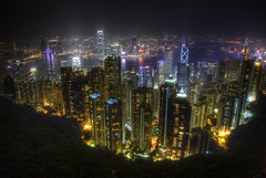Peak View (Hong Kong) (Greg Benz Photography) Tags: china city sky urban horizontal skyline architecture modern night skyscraper photoshop buildings outdoors photography hongkong se asia seasia peak nopeople illuminated growth citylights kowloon development hdr highdynamicrange scraper gettyimages victorias victoriaspeak photomatix supershot hongkongskyline buildingexterior highangleview asiancities anawesomeshot hdrskyline carbonsilver urbanhdr gregbenz gbenz urbanasiahdr hongkonghdr citylightshdr