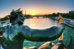 to the sun (The Other Martin Tenbones) Tags: bridge sun paris france statue seine bravo iii fisheye pont alexandre hdr effeil p1f1