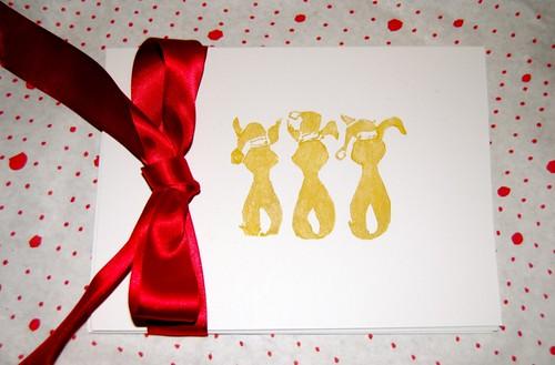 bunny christmas cards