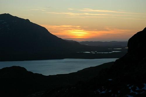 Sunset across Fionn Loch