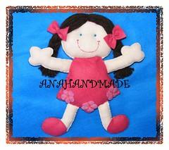 Boneca trancinha. (anananet) Tags: natal boneco noel gato borboleta cachorro feltro boneca caveira santo vender comprar chaveiro boche