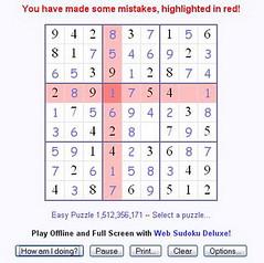 Mistakes (sudokudiario) Tags: english deluxe puzzle texto errores fallos yerros equivocaciones