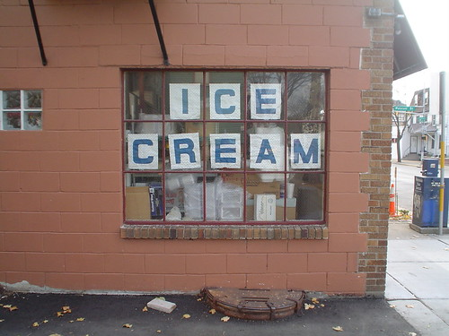 Ice Cream signage in windows